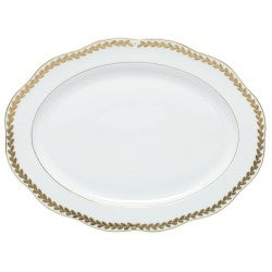 Herend oval platter golden laurel