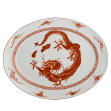 Mottahedeh red dragon platter
