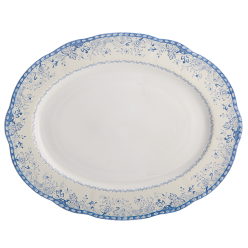 Mottahedeh Virginia Blue Oval Platter