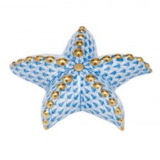 Herend Puffy Starfish Blue