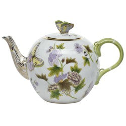 Herend royal garden tea pot with  butterfly