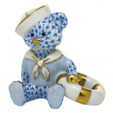 Herend sailor bear blue