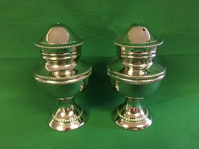 Salt And Pepper Shakers Silverplate