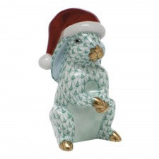 Herend Figurines Santa Bunny Green