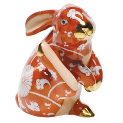 Herend Figurine Chinese Zodiac Scratching Bunny