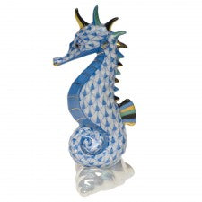 Herend sea horse blue