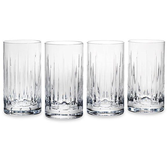 Soho Crystal 4-piece Highball Glass Set by Reed & Barton