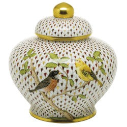 Herend Songbird Ginger Jar