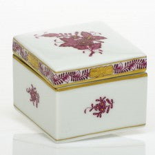 Herend Chinese Bouquet Pink Square Box
