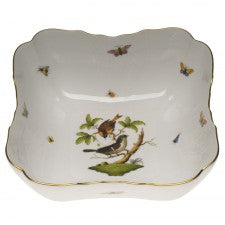 Herend rothschild bird square salad bowl