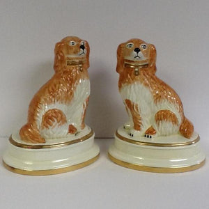 Italian Staffortdshire Dogs Hand Painted Pair