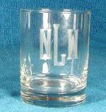 Monogrammed Double Old Fashioned Glasses Set Of 4