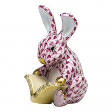 Herend storybook bunny pink