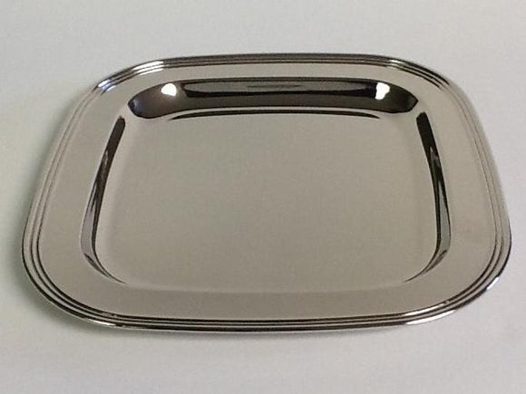 Silver plate square tray