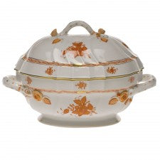 Herend chinese bouquet rust tureen