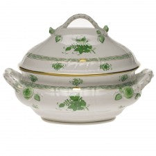 Herend chinese bouquet green tureen with branch