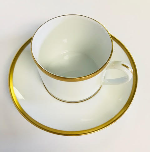 Pickard signature ultra white gold cup & saucer