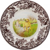 Spode Woodland Dinner Plate Yellow Labrador Retriever