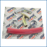 "T3/T4/T04E/T04B/T76 45 degree Turbocharger Oil drain kit 7"" length ¾"" ID hose"