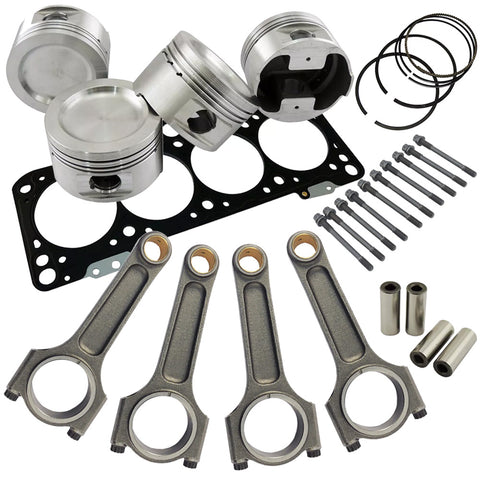 Forged piston and Connecting rod kit + 118mm head stud + MLS decompression Head Gasket for VW 1.8 8V (83,75mm) 1100hp