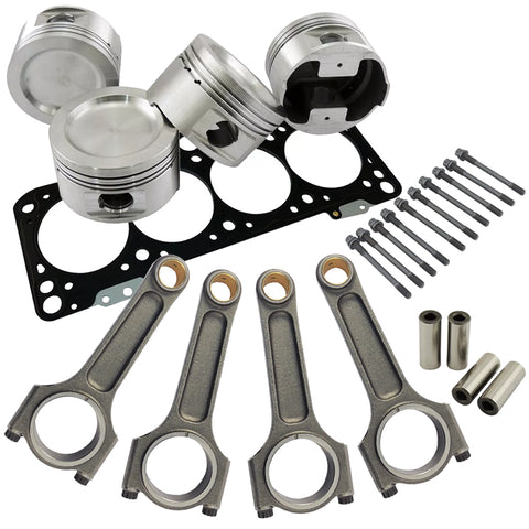 Forged piston and Connecting rod kit + 118mm head stud + MLS decompression Head Gasket for VW 1.8 8V (83,5mm) 1100hp