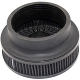 "Universal air filter turbocharger guard 4"" Double Flux - Black"