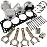 Forged piston and Connecting rod kit + 118mm head stud + MLS decompression Head Gasket for VW 1.8 8V (83,75mm) 1000hp