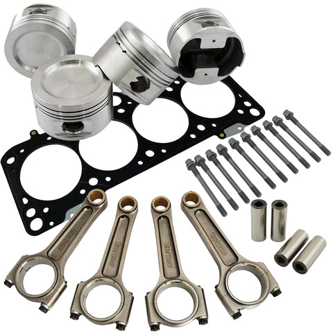 Forged piston and Connecting rod kit + 118mm head stud + MLS decompression Head Gasket for VW 1.8 8V (83,5mm) 1000hp