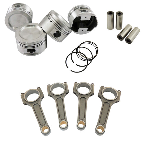 Forged piston set and Connecting rod kit for VW 1.8 8V (83,75mm) 1100hp - Includes Bolts and Pins