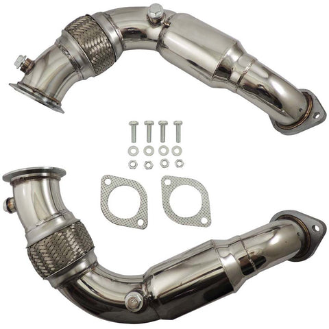 For BMW N63B44 4.4L V8 Twin Turbo Downpipe 08-14 X6 / X5 5,6 and 7 Series