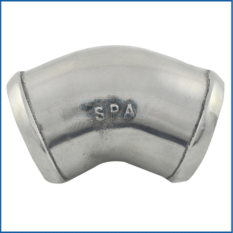 "2.75"" tight radius aluminum cast 45° elbow"