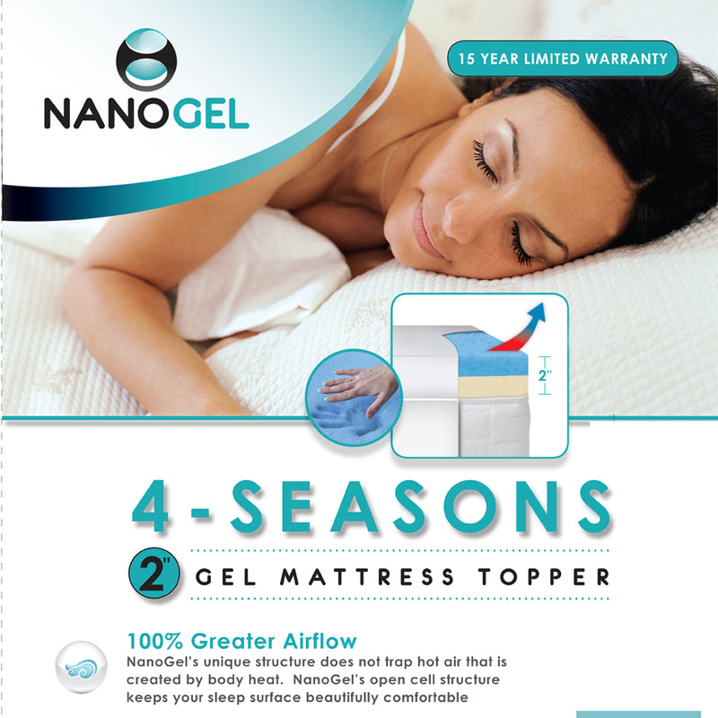 2 inch GEL TOPPER 4-SEASONS with Cover