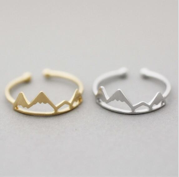 New Fashoin Open Snow Mountain Rings For Women Birthday Gift