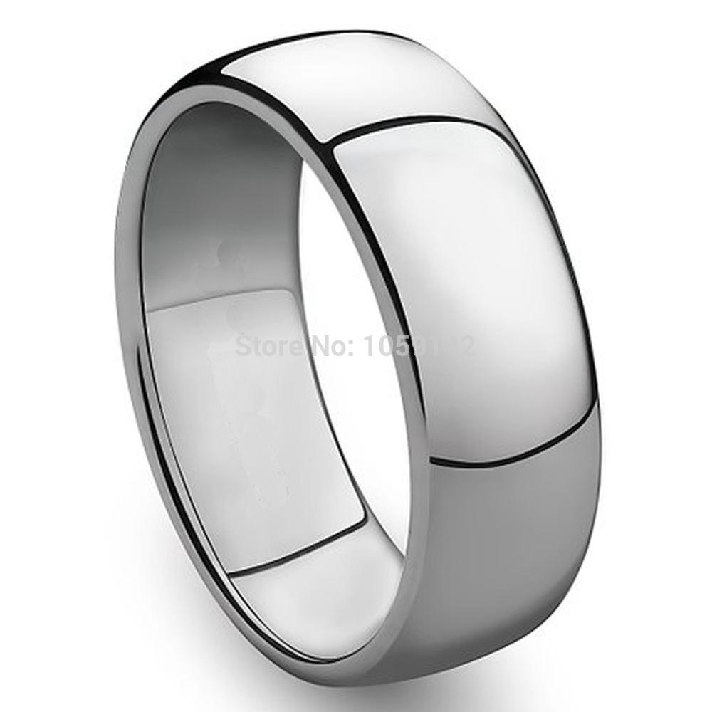 3mm to 8mm 316L Stainless Steel Shiny Polished Ring Comfort Fit Men