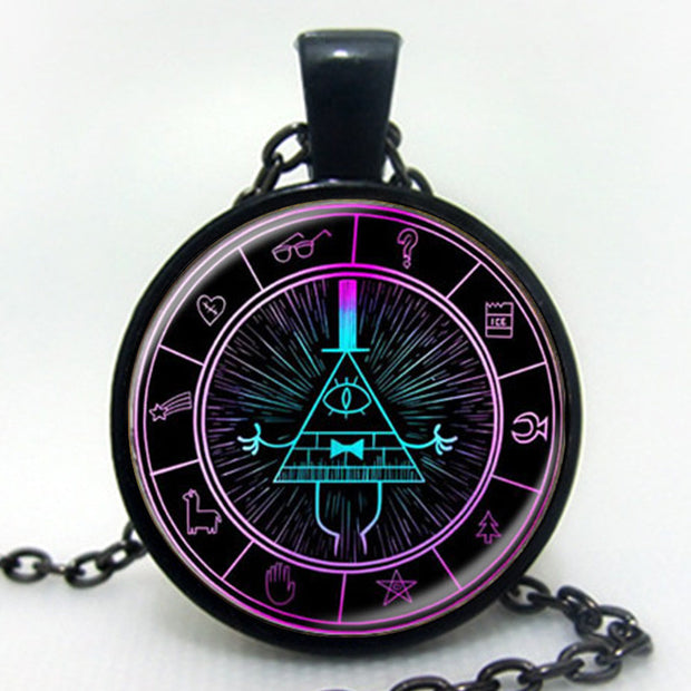 Drama Gravity Falls Mysteries BILL CIPHER WHEEL Steampunk Pendant
