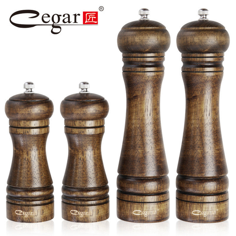 1pc or 4pcs/set Classical Oak Wood Pepper Spice Mill Grinder Set