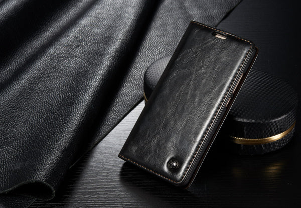 Huawei P9 Lite Case Cover Superior Business Style Leather Wallet Stand