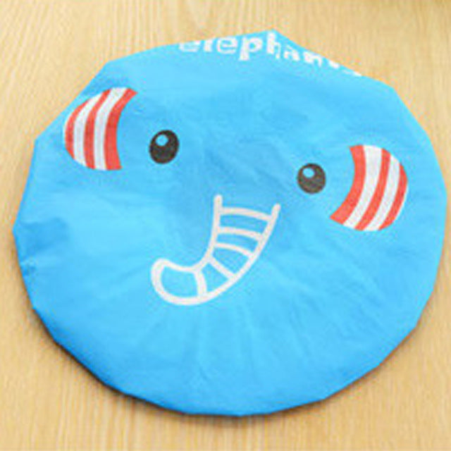 1PC Bathroom Accessories Waterproof Shower Hat Elastic Band Hat Bath