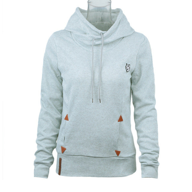 2017 Fashion Women Hoodie Sweatshirts Self-tie Pockets Pullover Hooded