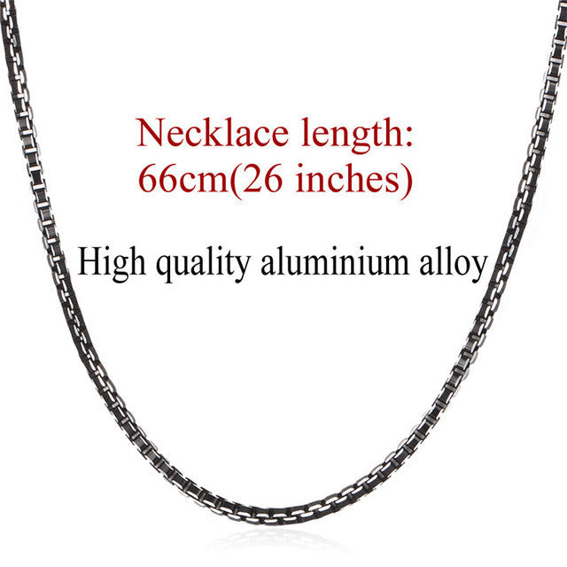 U7 Necklace Men Jewelry Trendy Cool Black Collar Alloy Jewelry