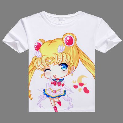 2017 casual women tshirt Sailor Moon digital printed hot anime