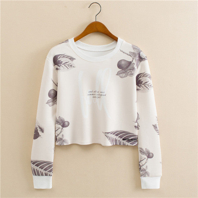 2016 new European style round neck long-sleeved pullover donuts