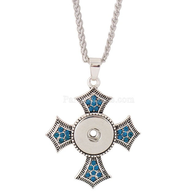 3 color NEW Fashion Metal Snap Necklace round Rhinestone Elegant
