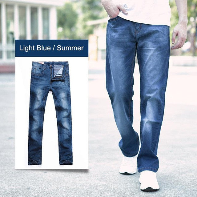 2017 New Fashion Brand Summer Denim Jeans Men Mid Waist Cotton Loose