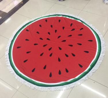2017 Large Microfiber Reactive Printed Round Beach Towel With Tassel