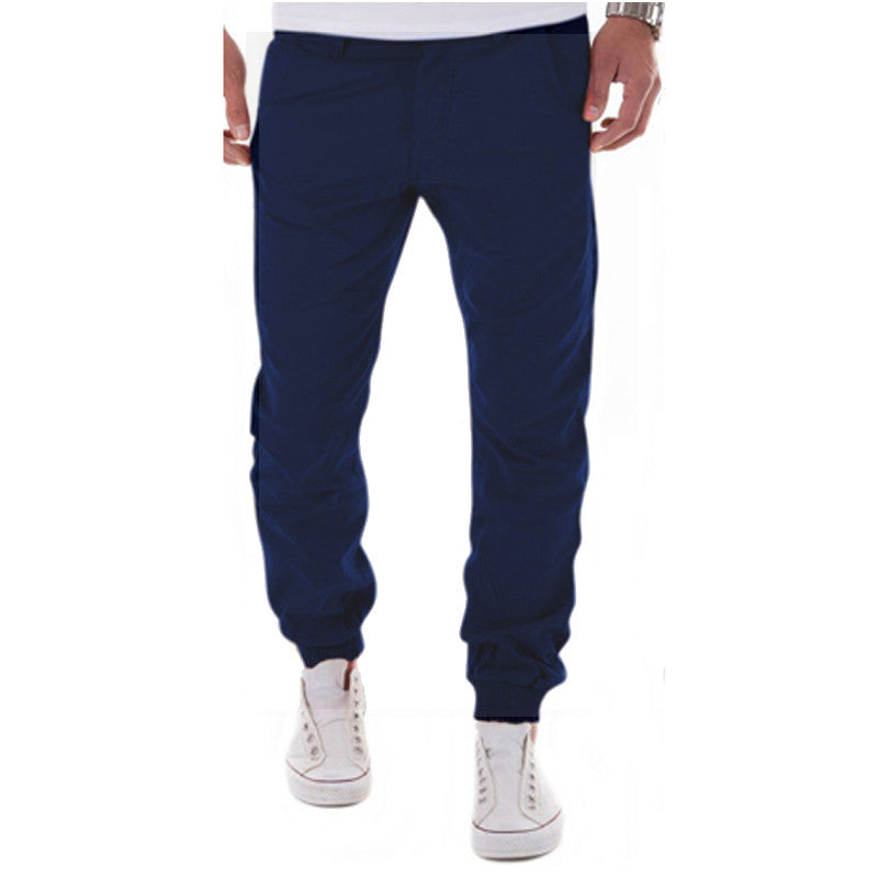 2017 New Casual Men Pants Slim Pant Straight Trousers Fashion Solid