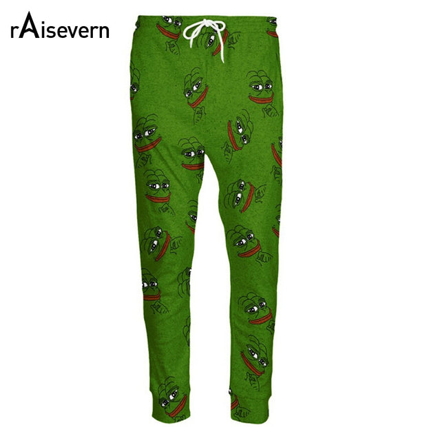 Raisevern Fashion 3D Pepe The Frog Joggers Pants Men/Women Funny