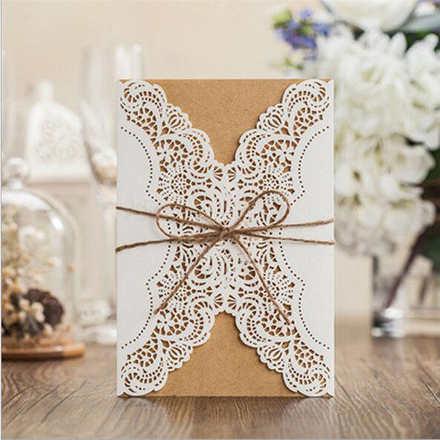 1pcs Sample Hollow Laser Cut Wedding Invitations Card Personalized