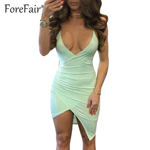 Forefair Sexy Criss Cross Fold Spaghetti Strap Dress 2017 Summer High Elastic Cotton Dress Women Backless Bodycon Party Dresses