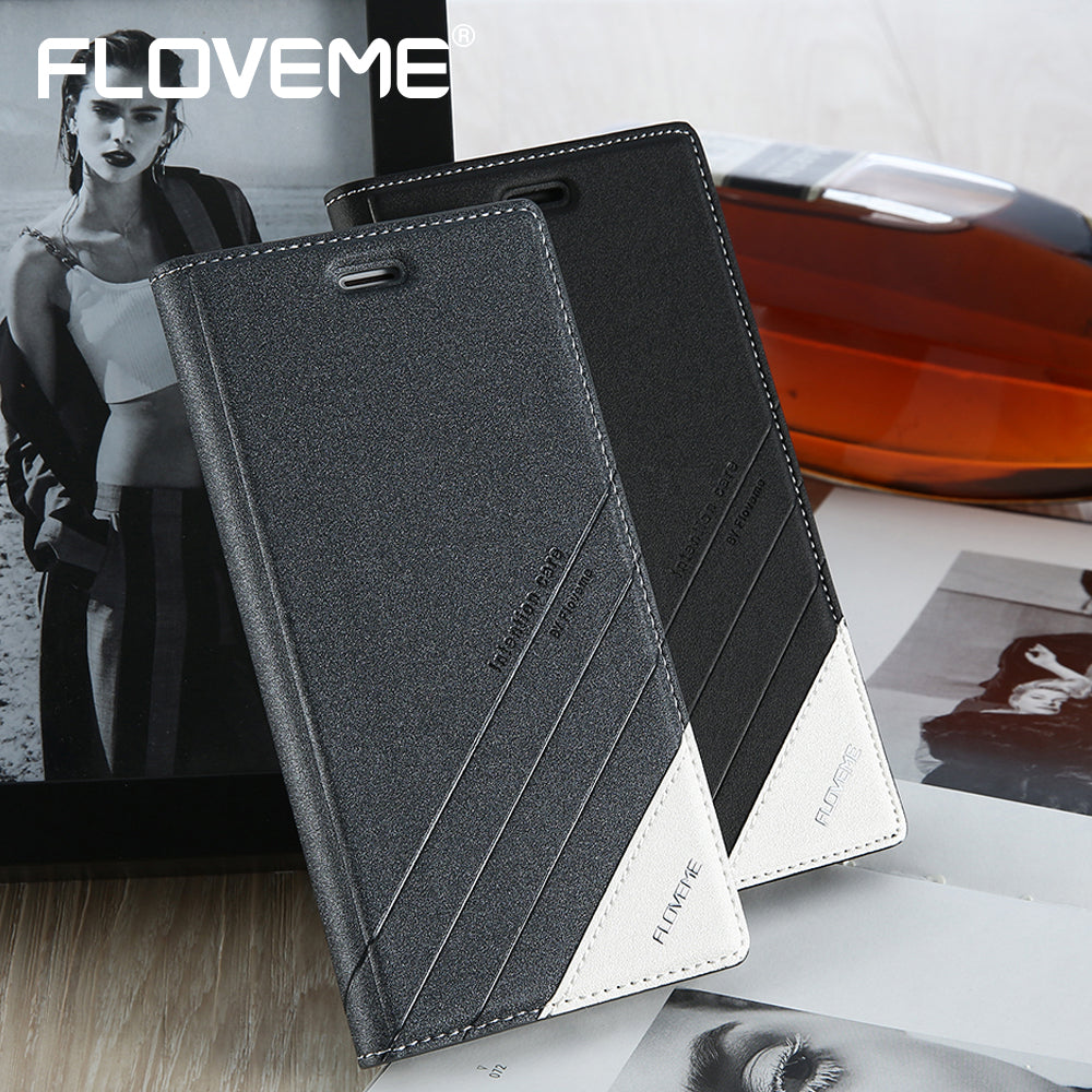 FLOVEME For iPhone 7 Plus iPhone 7Plus Flip Case Silicone Leather Back
